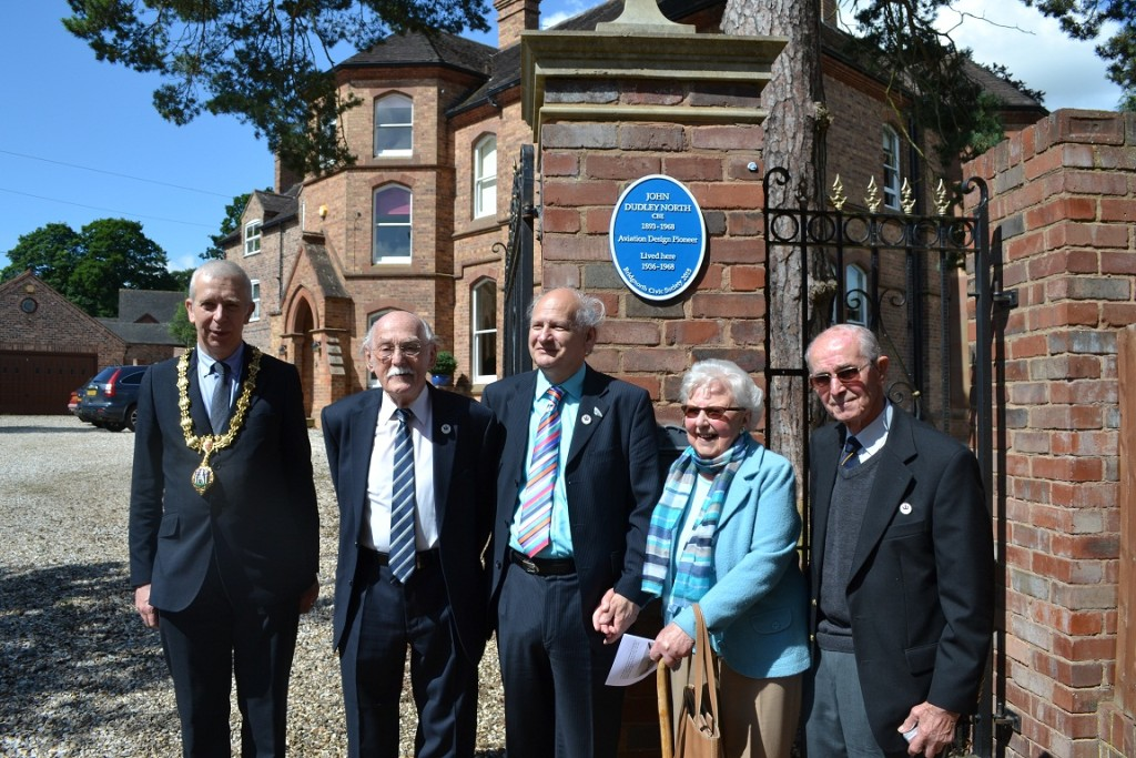 Boulton Paul Association members with the Mayor at the unveiling.